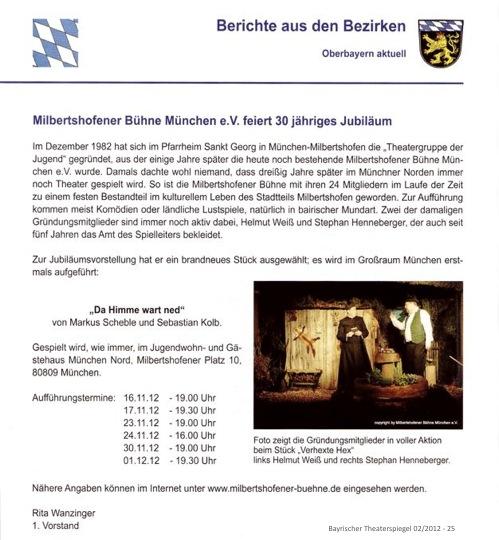 2012 - Bayrischer Theaterspiegel