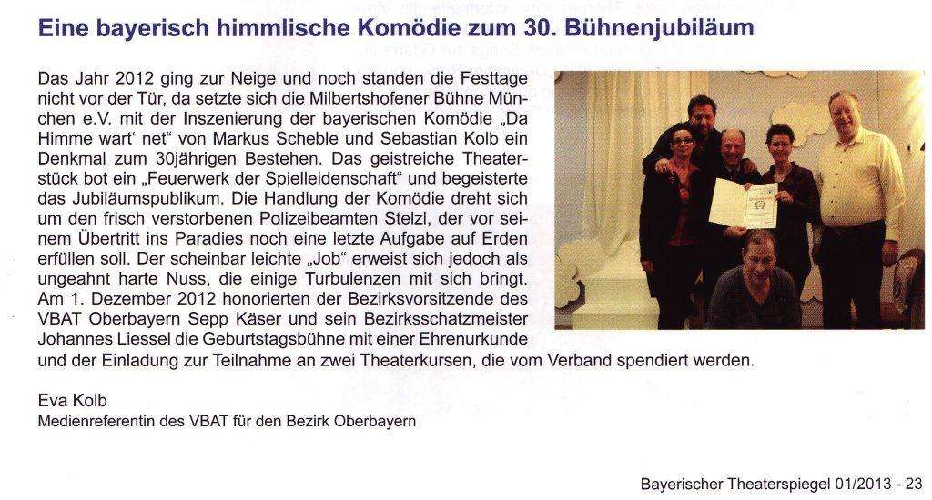 2013 - Bayrischer Theaterspiegel